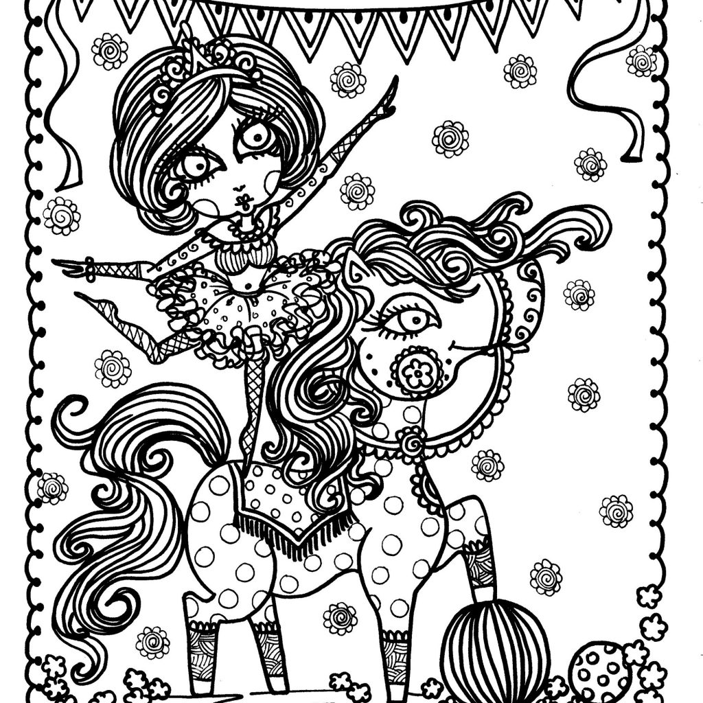 christmas-coloring-pages-horse-with-new-acrobat-girl-on-anti-stress-adult