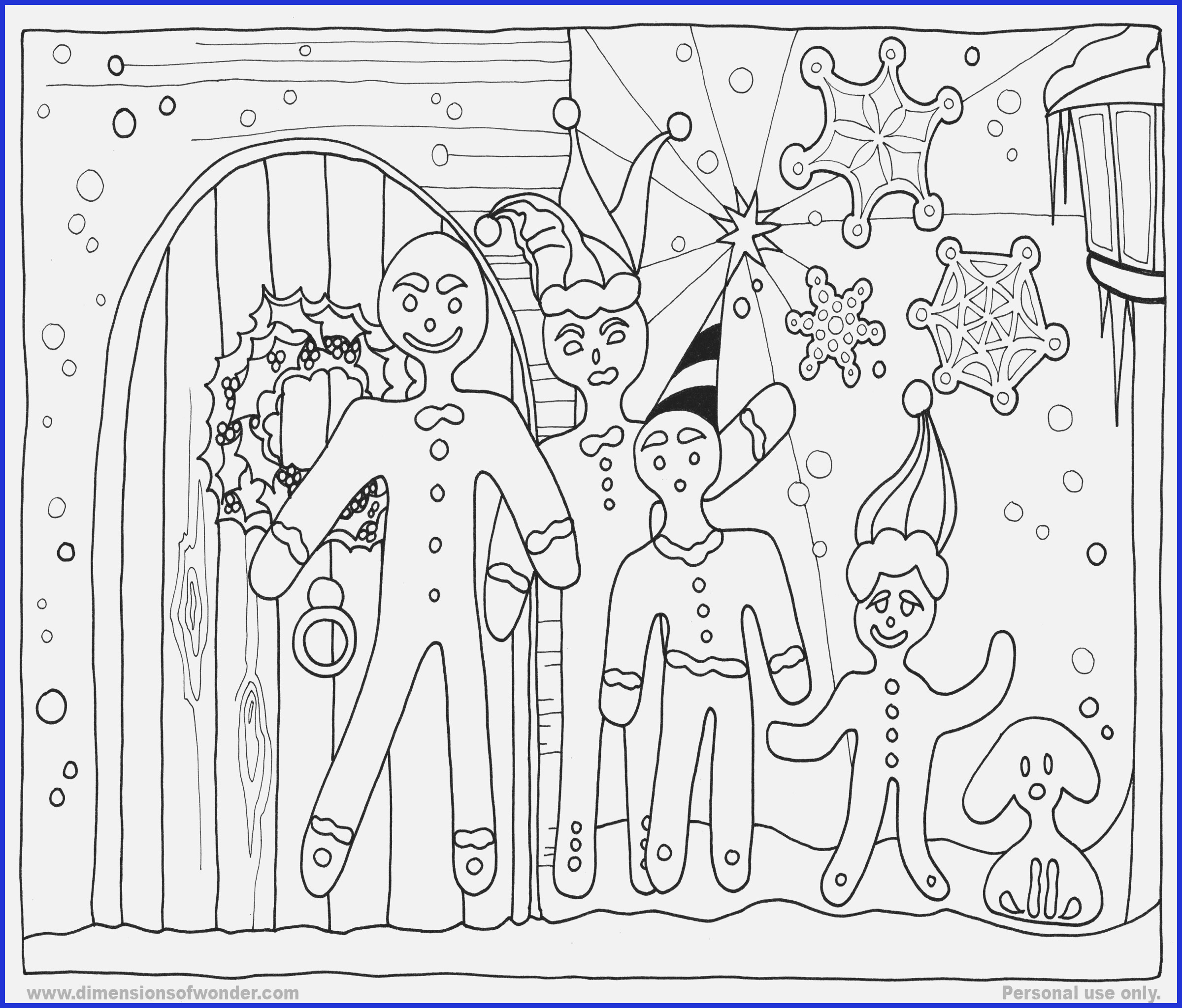 Christmas Coloring Pages House With Gingerbread Www Gsfl
