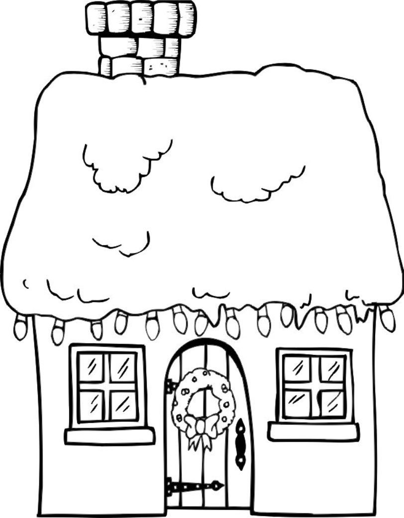 Christmas Coloring Pages House With Pin By Marilia Rizzi On Festas Fim De Ano Pinterest