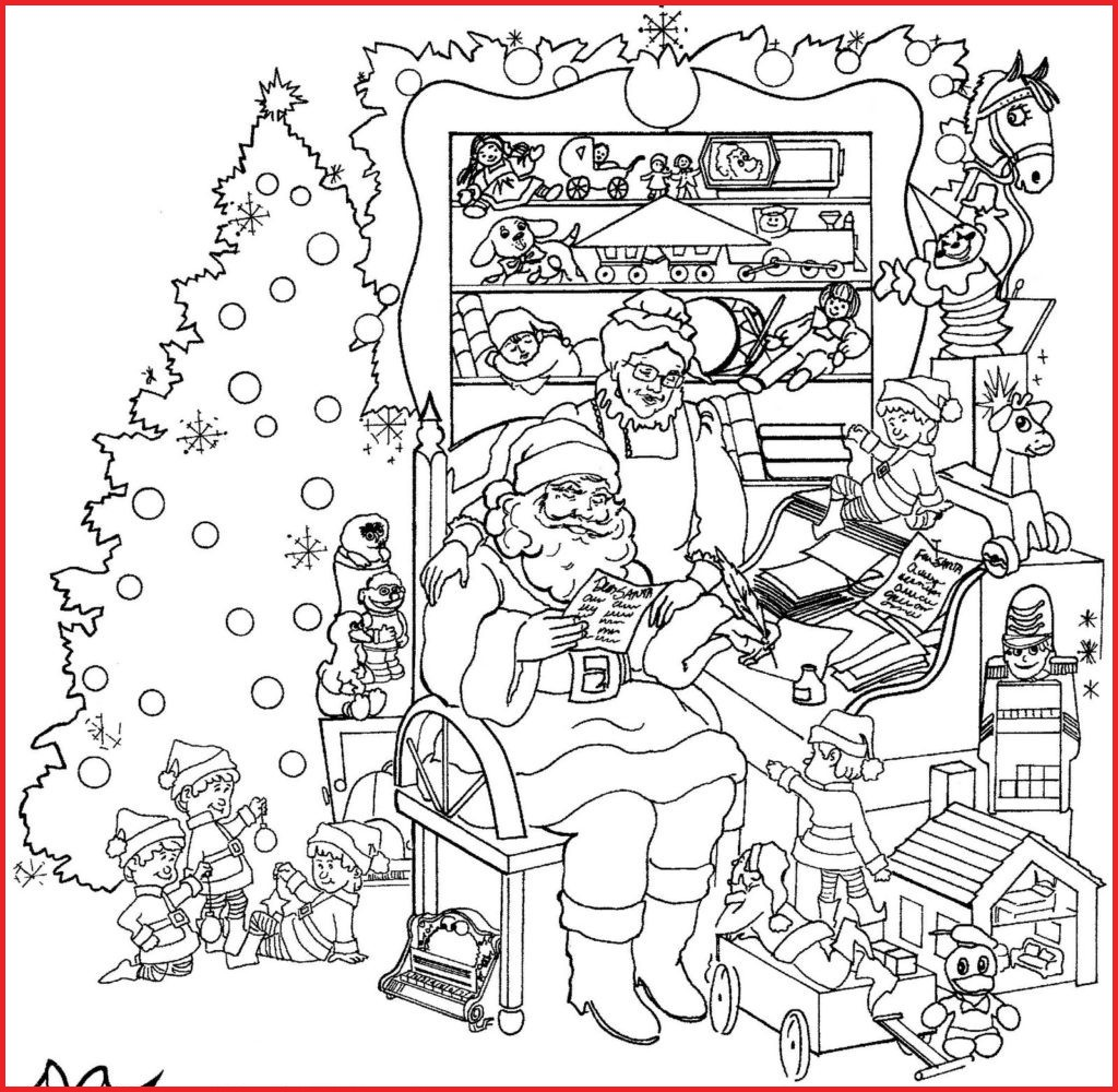Christmas Coloring Pages Images With Free For Adults 19474 50 Elegant