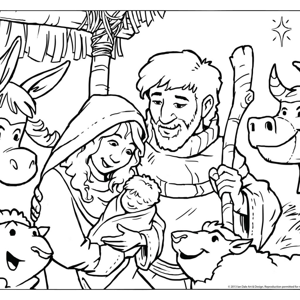 Christmas Coloring Pages In Pdf With Sheets Refrence Scene Drawing At