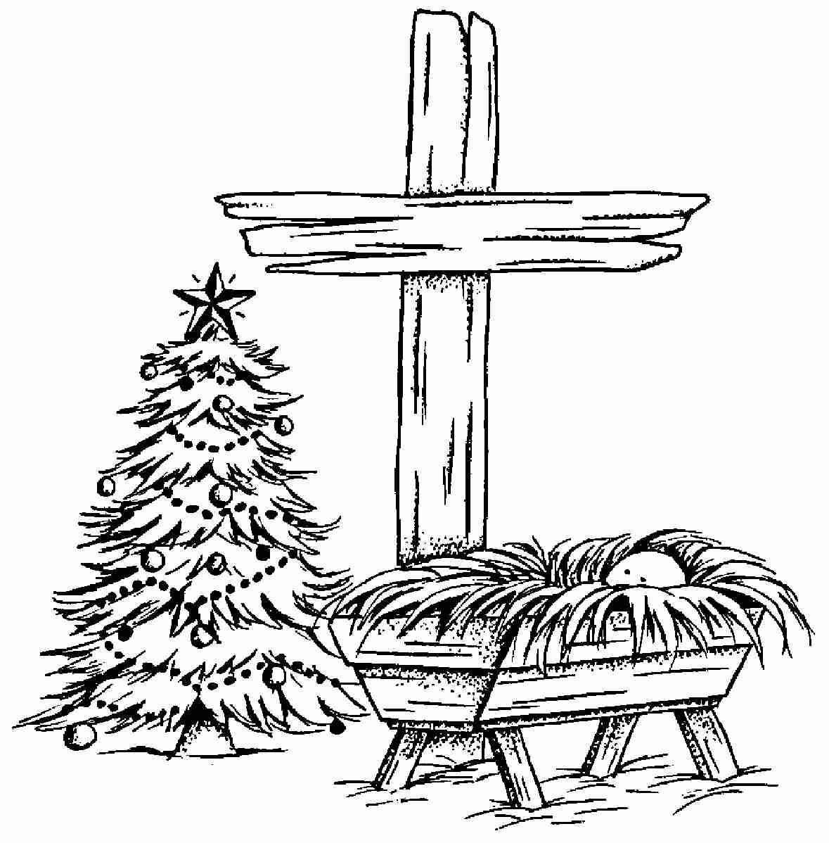 Christmas Coloring Pages Jesus Manger With Free Images Of Baby In The Download Clip Art