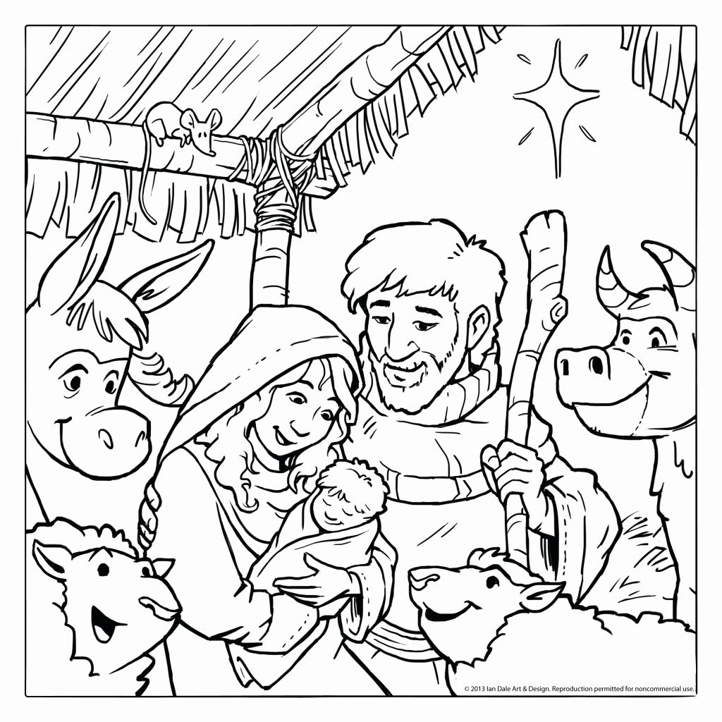 Christmas Coloring Pages Jesus With Free Printable Baby Christian