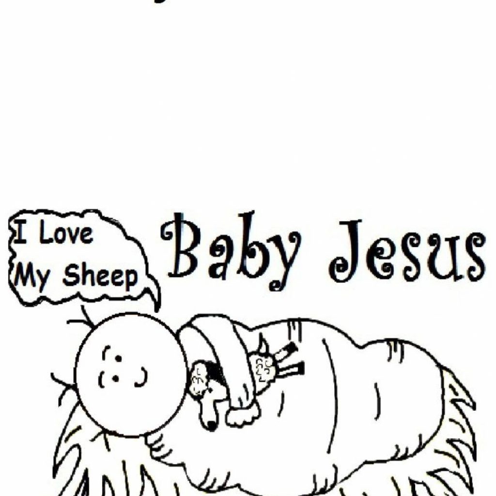 Christmas Coloring Pages Jesus With The Birth Of Page Home