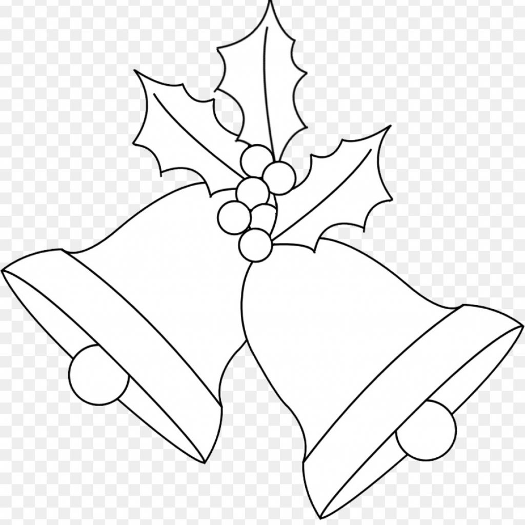 Christmas Coloring Pages Jingle Bells With Book Png Download 917