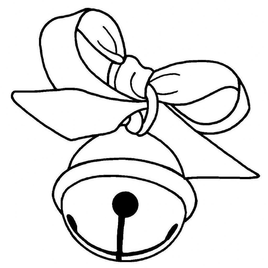 Christmas Coloring Pages Jingle Bells With Clipart Black And White Cute Borders Vectors Animated