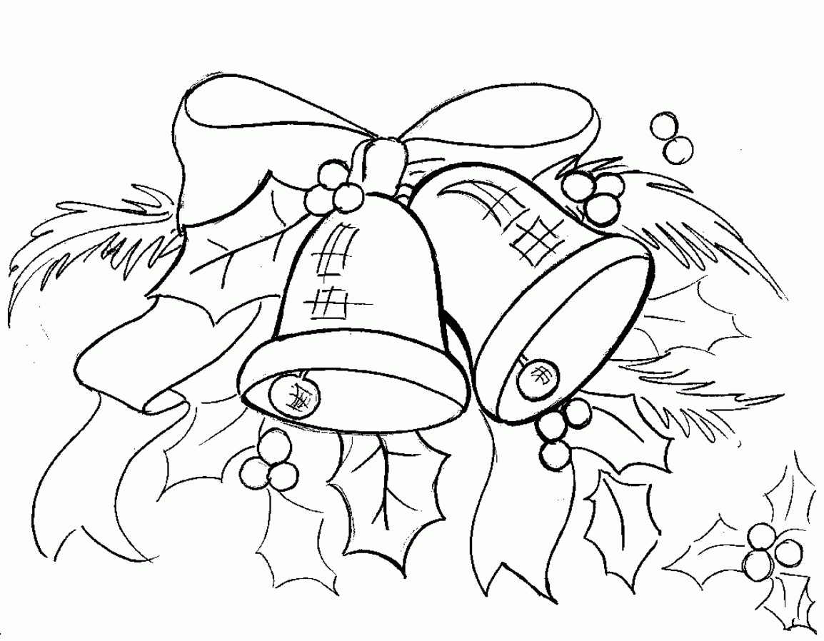 Christmas Coloring Pages Jingle Bells With Within Bell Drawing At Getdrawings Best