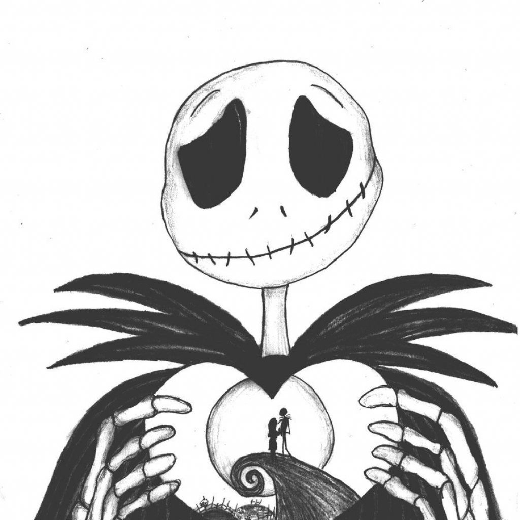 Christmas Coloring Pages Kawaii With Nightmare Before Clipart