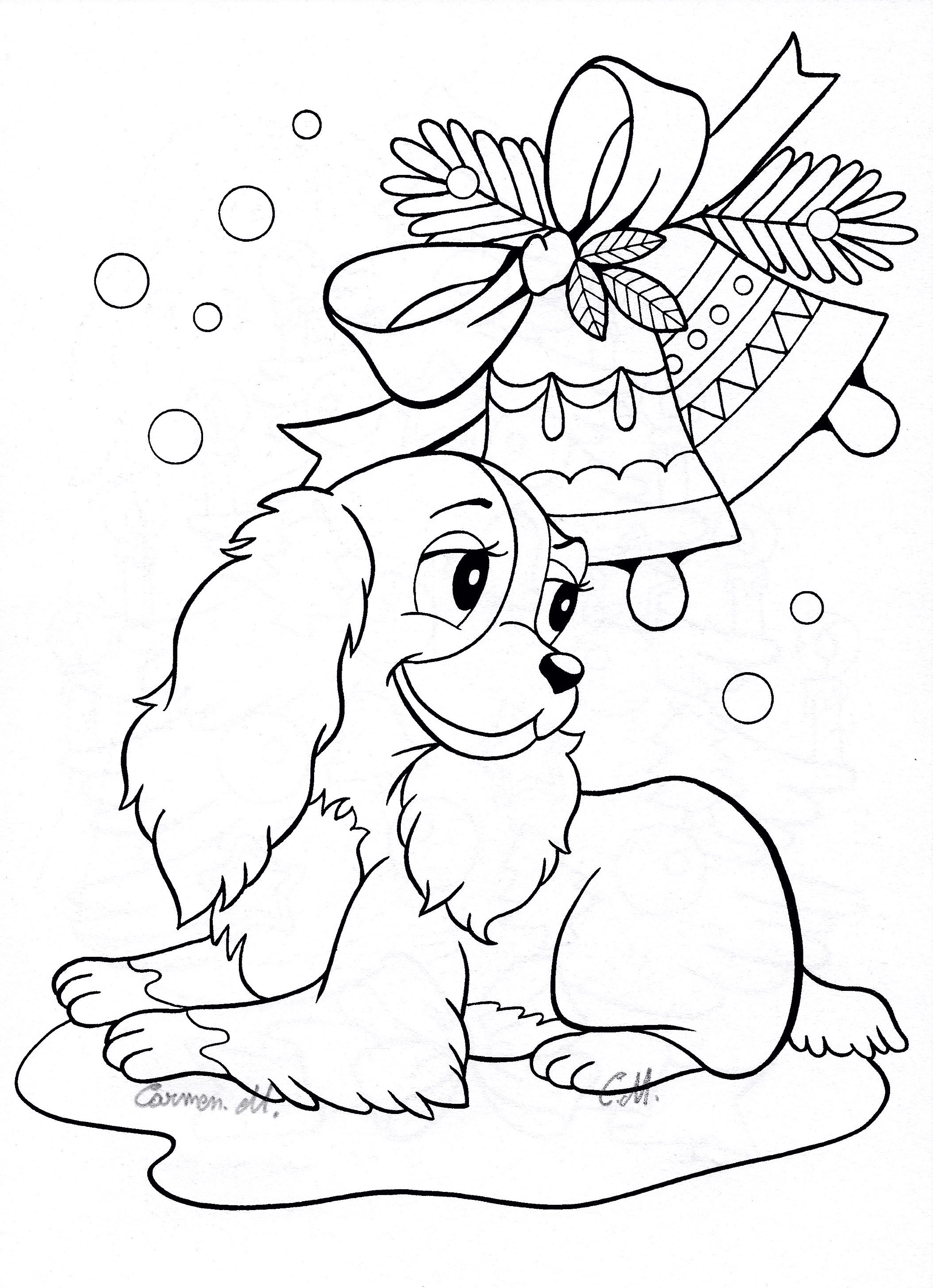 Christmas Coloring Pages Kawaii With Penguin For Kids Awesome Free