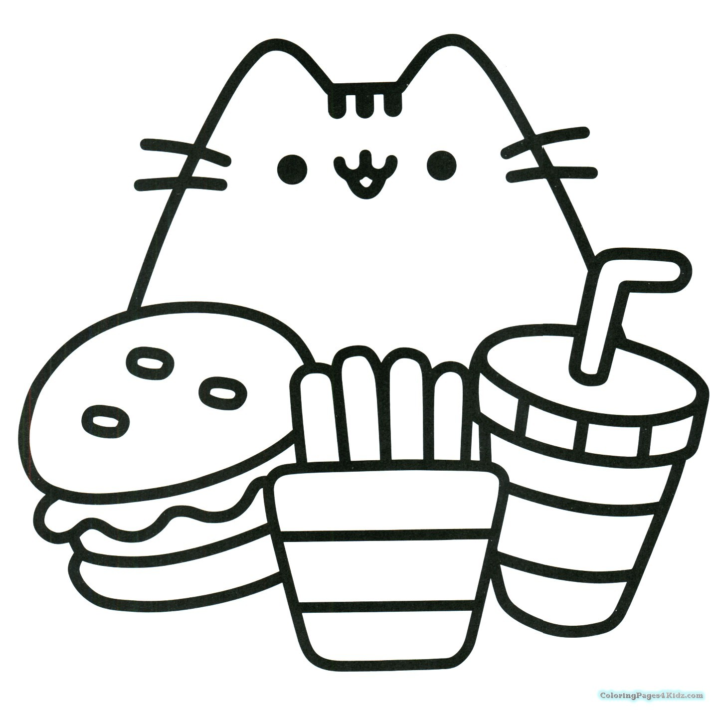 Christmas Coloring Pages Kawaii With Pusheen Best Of The Cat Book