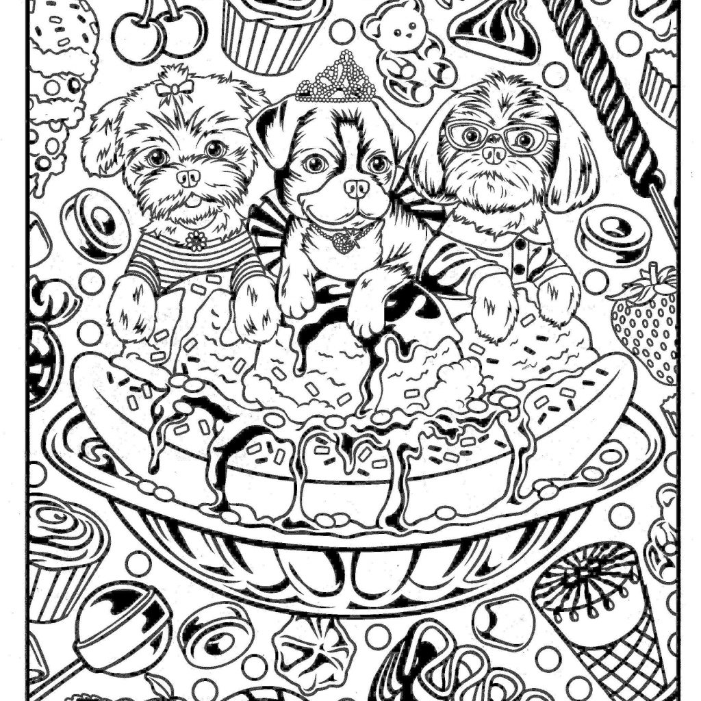 Christmas Coloring Pages Kitten With