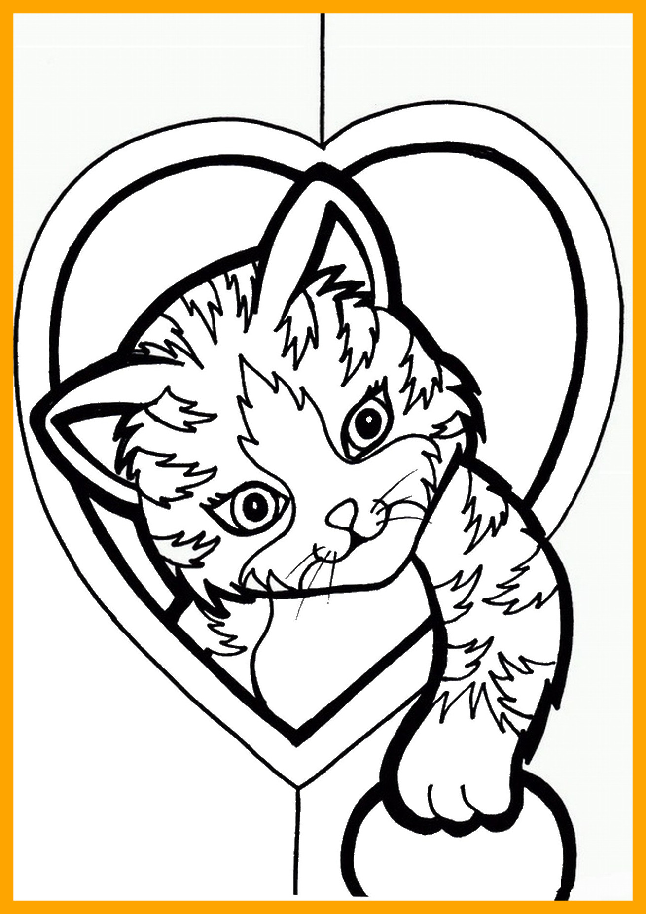Christmas Coloring Pages Kitten With Colring At GetDrawings Com Free For Personal Use