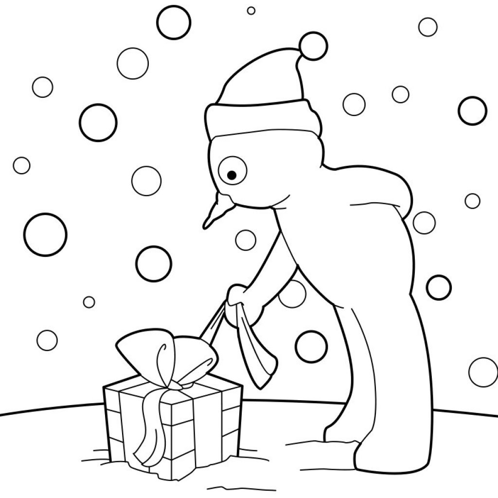 Christmas Coloring Pages Large With SNOWMAN 22 Xmas Online Books And Printables