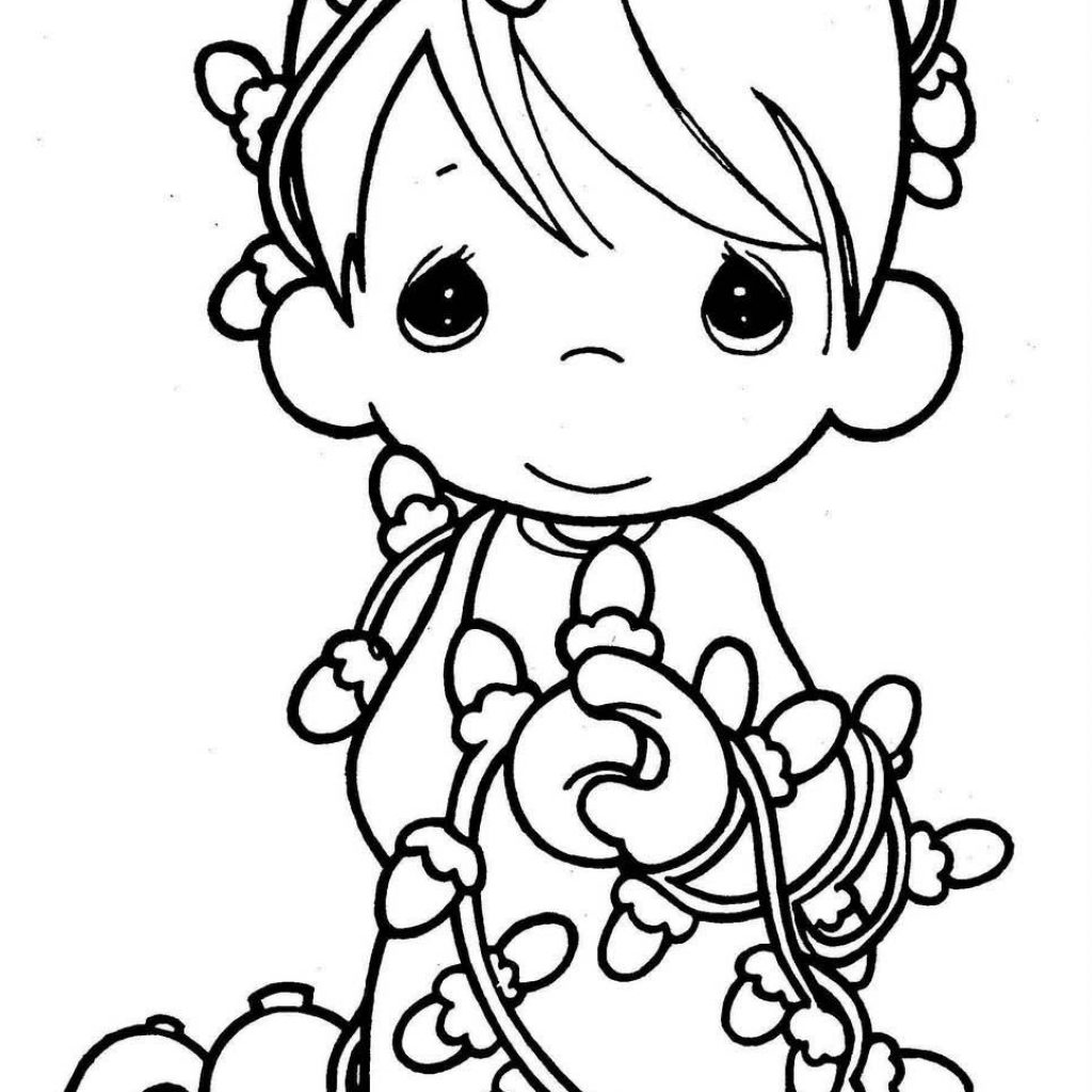 Christmas Coloring Pages Lights With XMAS COLORING PAGES ANGEL PAGE Color Sheets Pinterest