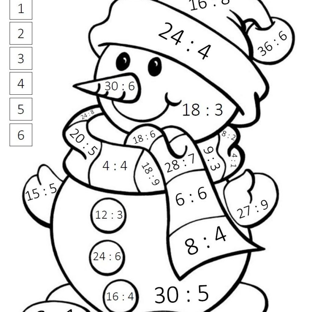 Christmas Coloring Pages Math With BLOG EDUKACYJNY DLA DZIECI Deveres Pinterest