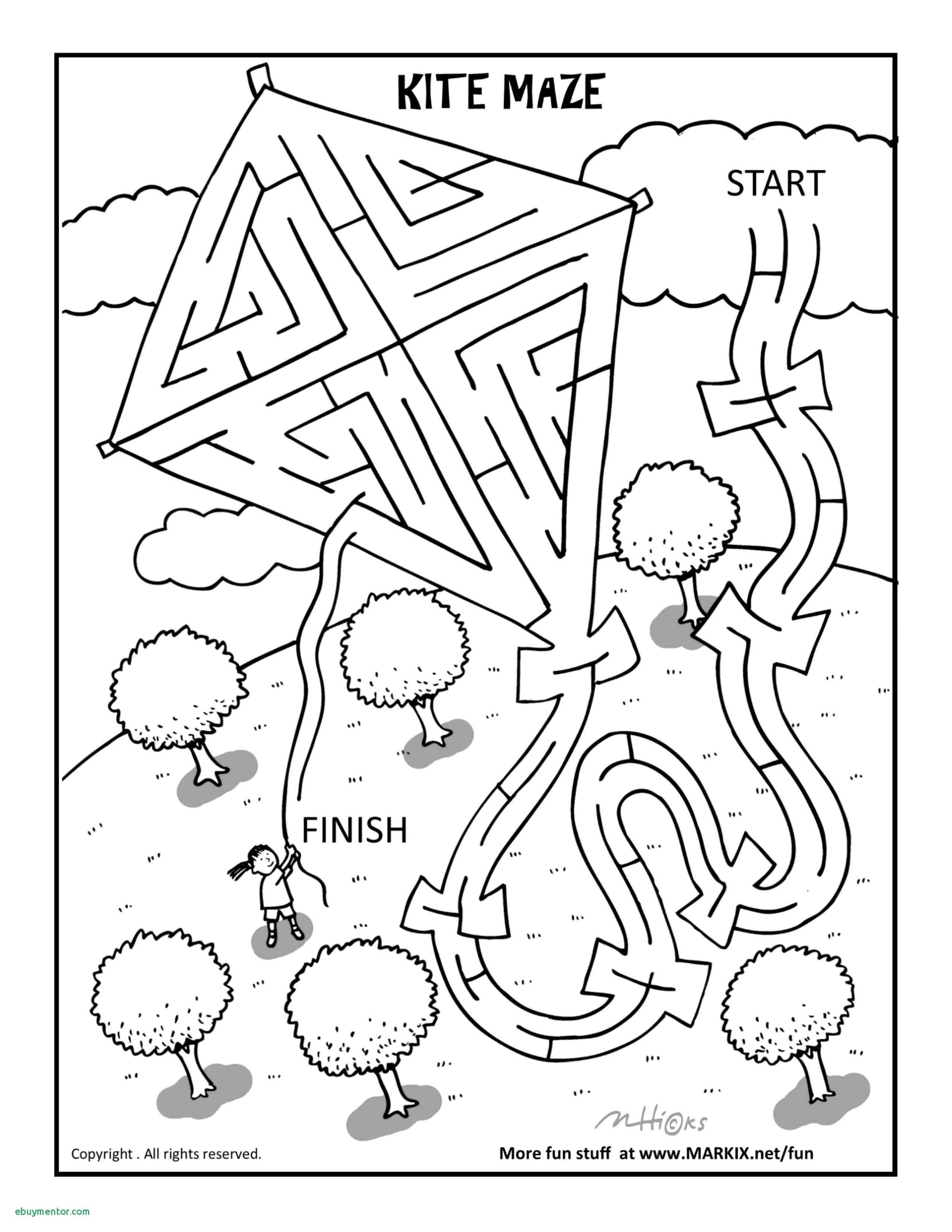 Christmas Coloring Pages Mazes With Lake Page Cross Printable Maze Free