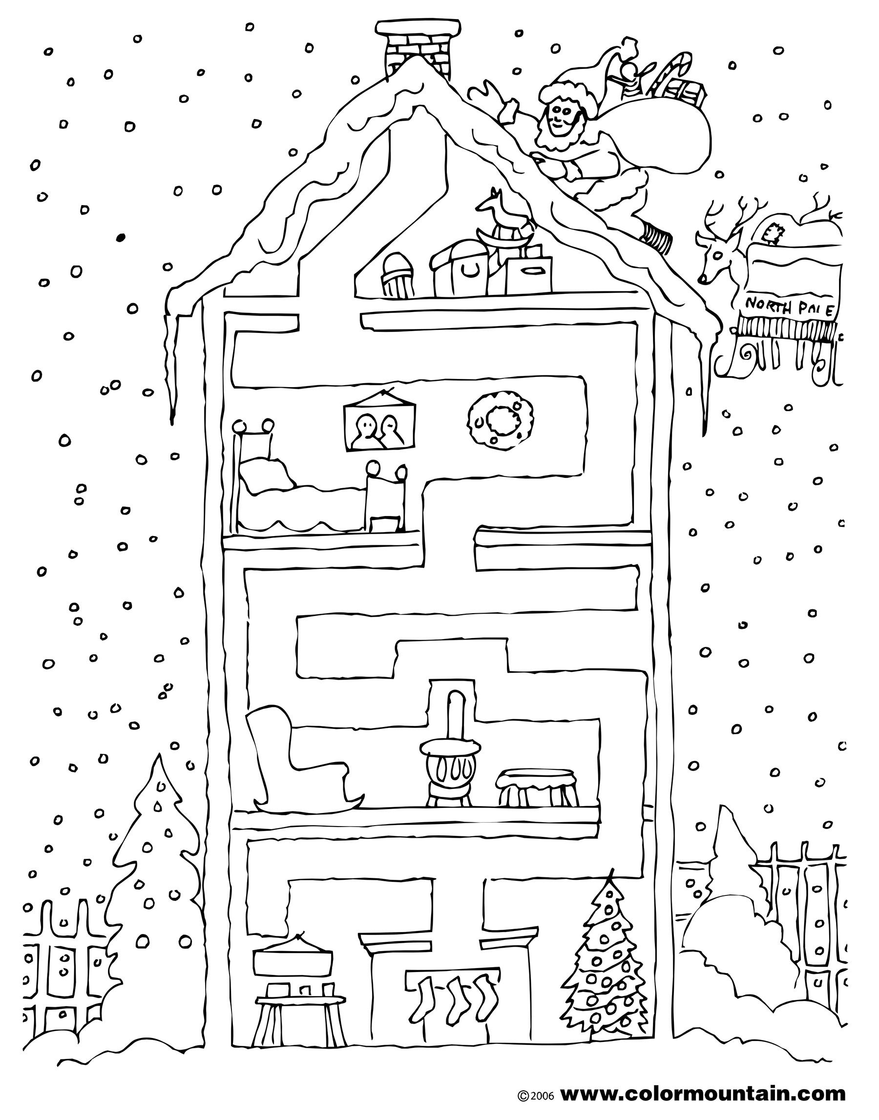 Christmas Coloring Pages Mazes With Maze Page Excerpt Post Of Deer