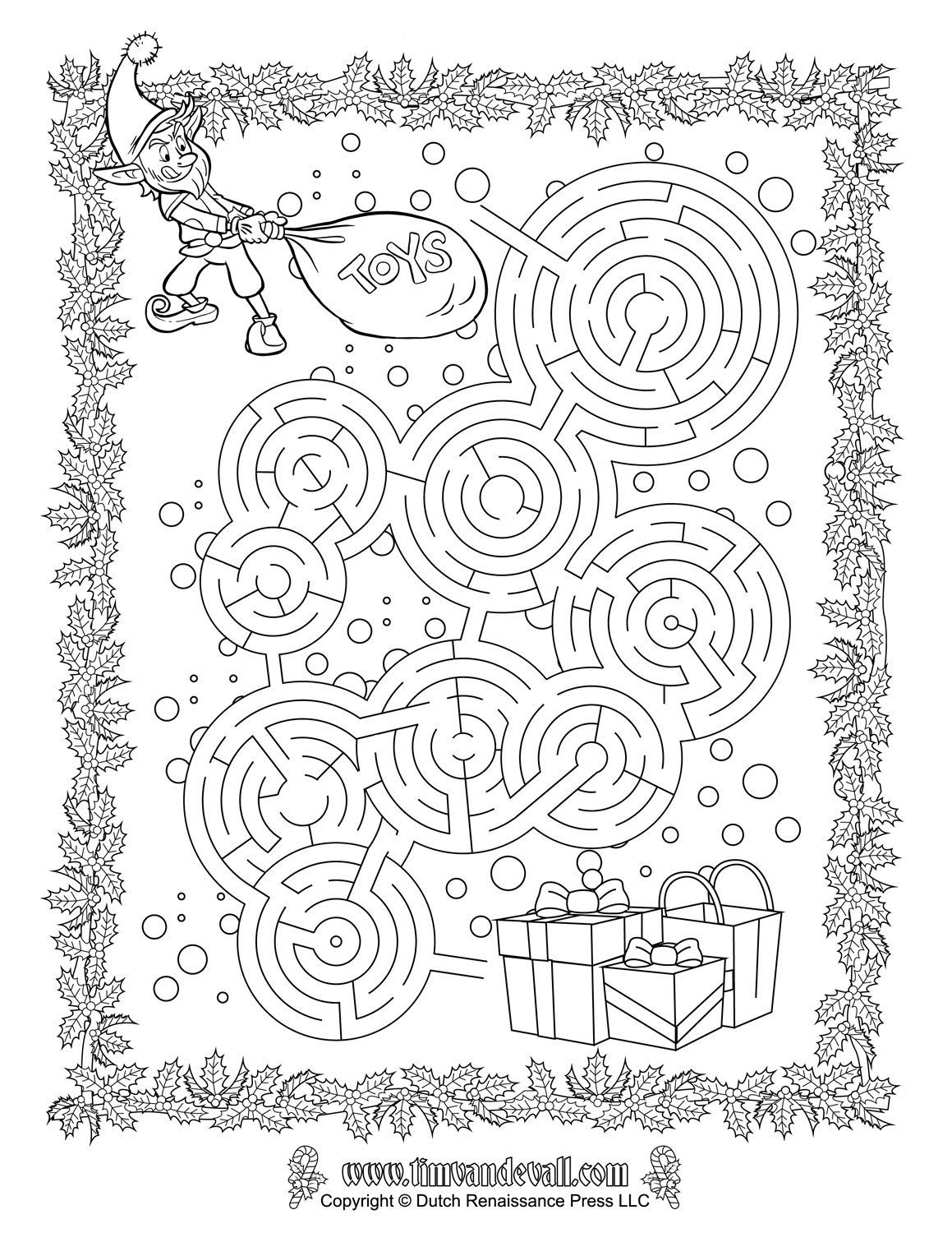 Christmas Coloring Pages Mazes With Maze Printable Printables