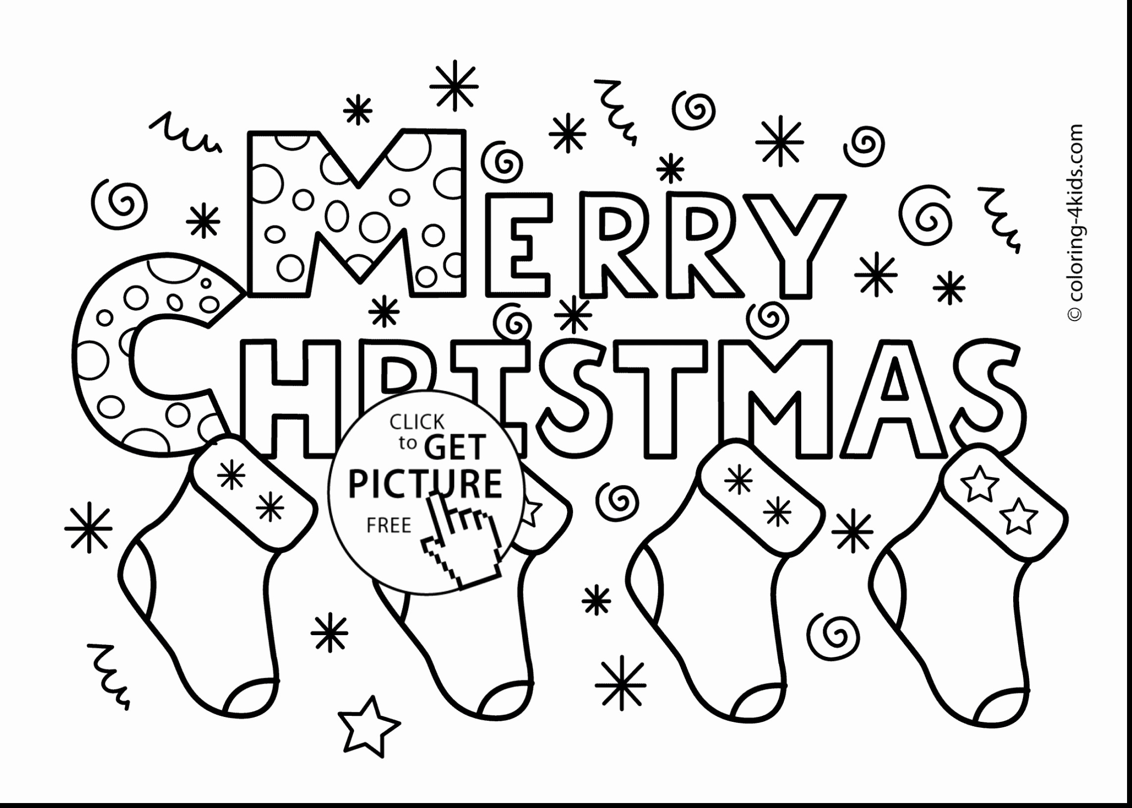 Christmas Coloring Pages Merry Sign With GetColoringPages Forensicstore Us
