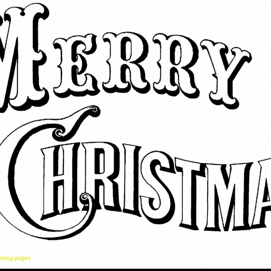 Christmas Coloring Pages Merry Sign With Valid Page Black