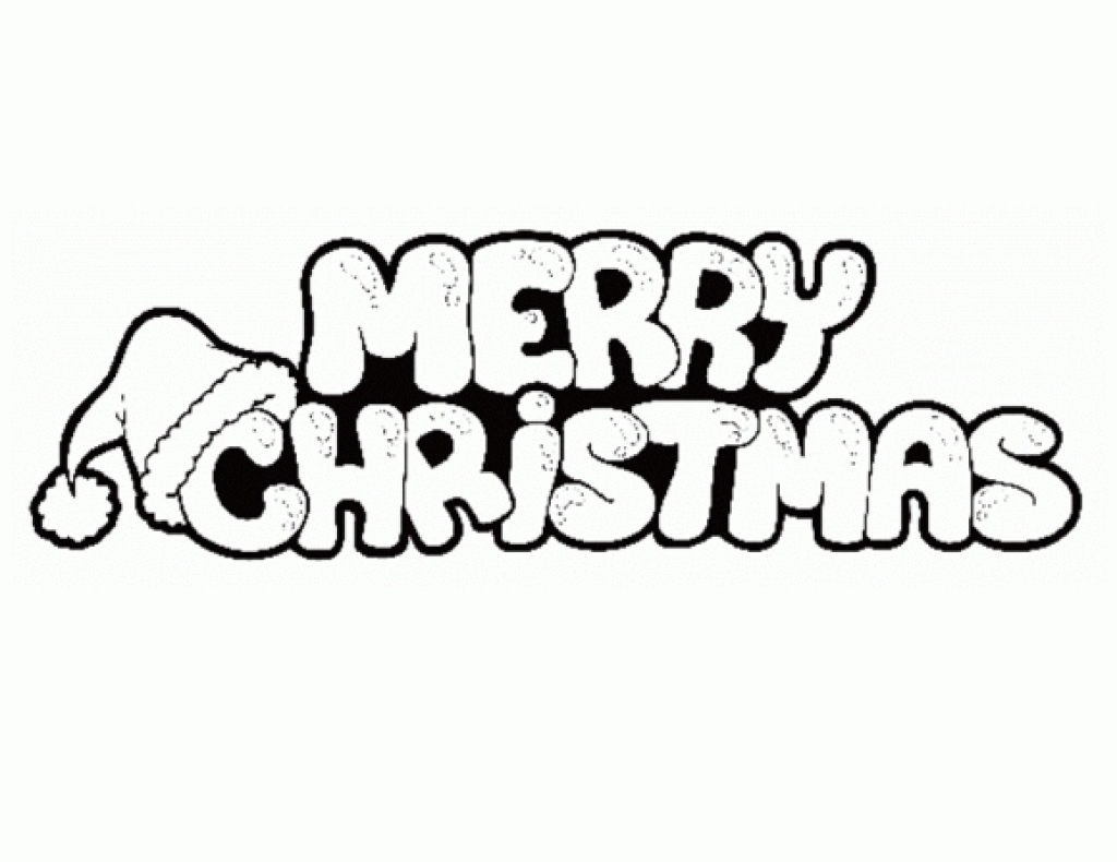 Christmas Coloring Pages Merry With Awesome Cartoon Gallery Printable