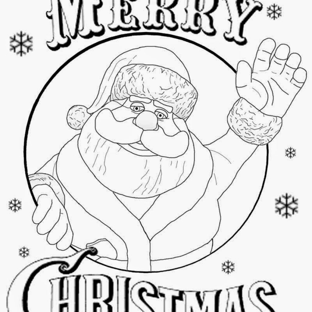 Christmas Coloring Pages Merry With Free Printable Pictures To Color Kids Drawing Ideas