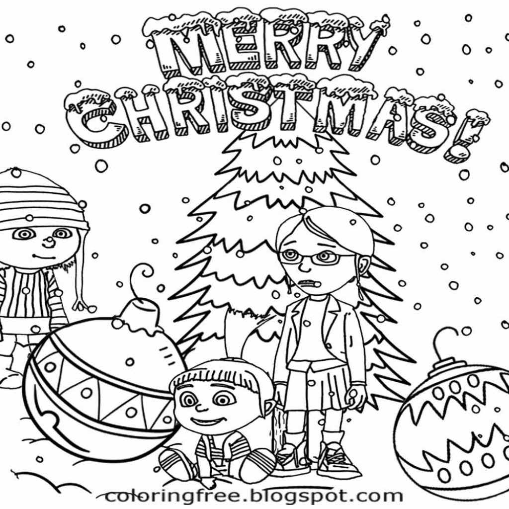 christmas-coloring-pages-merry-with-lets-coloring-book-cool-minions-for