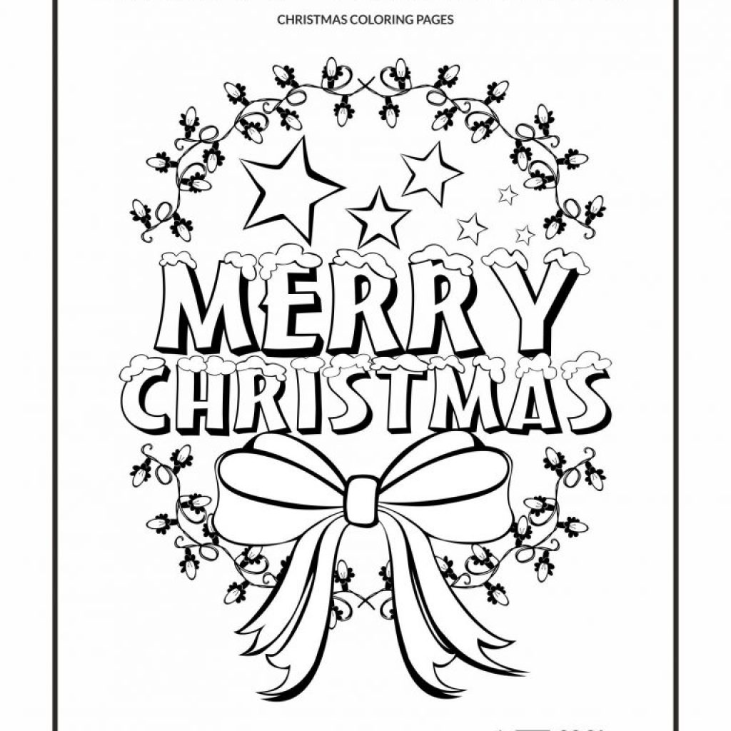 Christmas Coloring Pages Merry With View And Print Your In Yintan Me