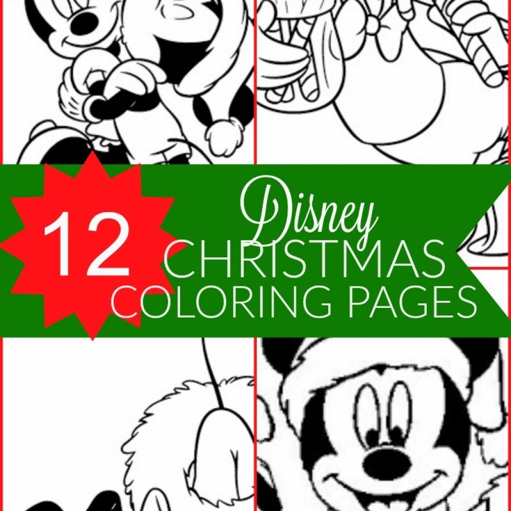 Christmas Coloring Pages Mickey Mouse With Free Disney Printable For Kids Honey Lime