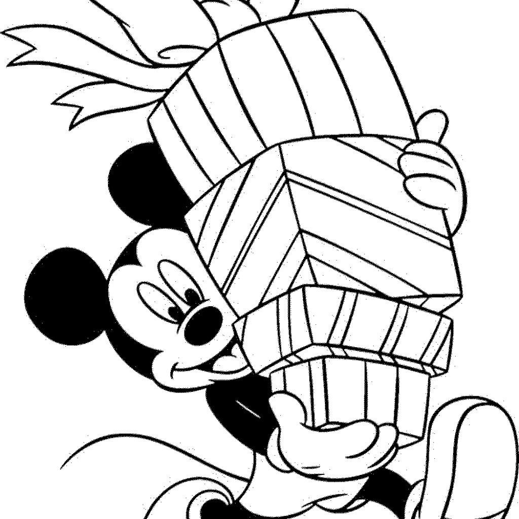 Christmas Coloring Pages Mickey Mouse With Learning Through