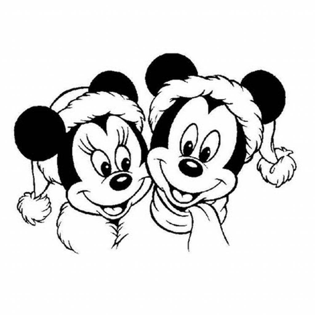 Christmas Coloring Pages Mickey Mouse With Love 1276