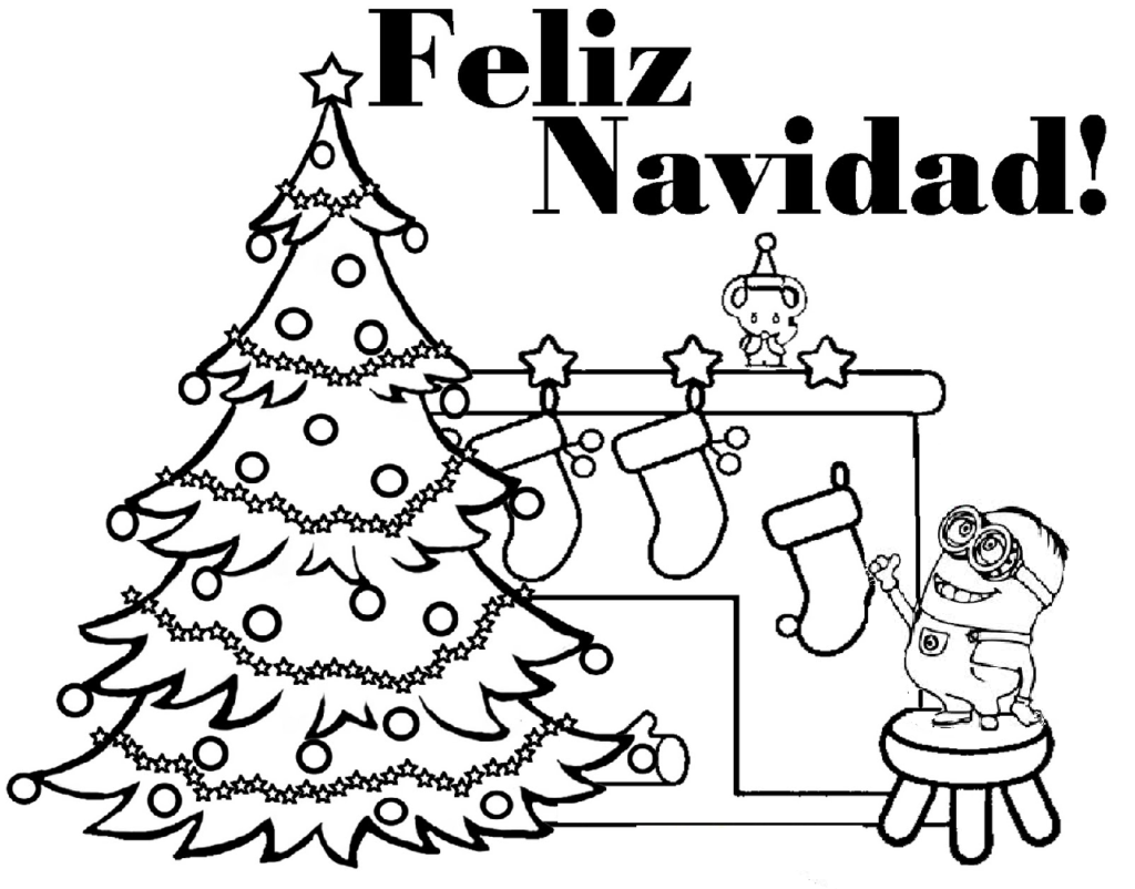 Christmas Coloring Pages Minion With 2022468