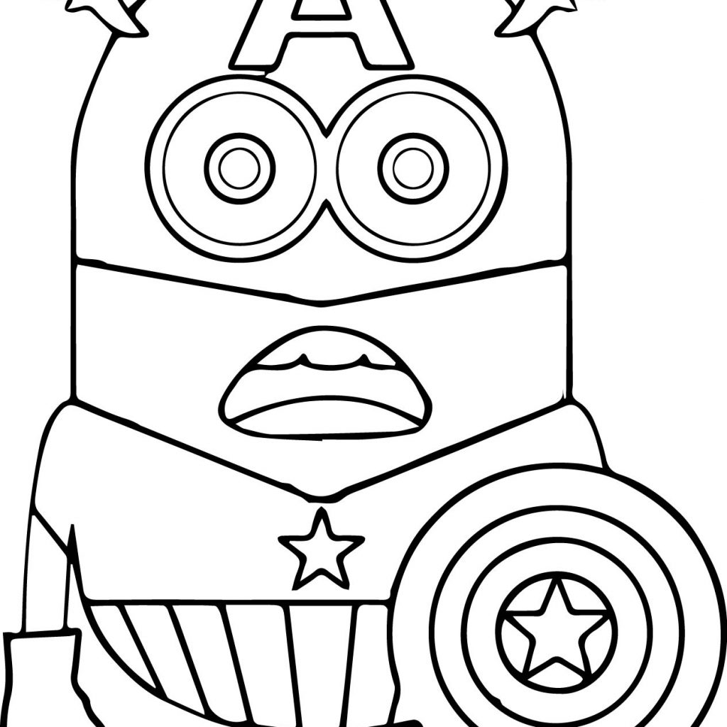Christmas Coloring Pages Minion With
