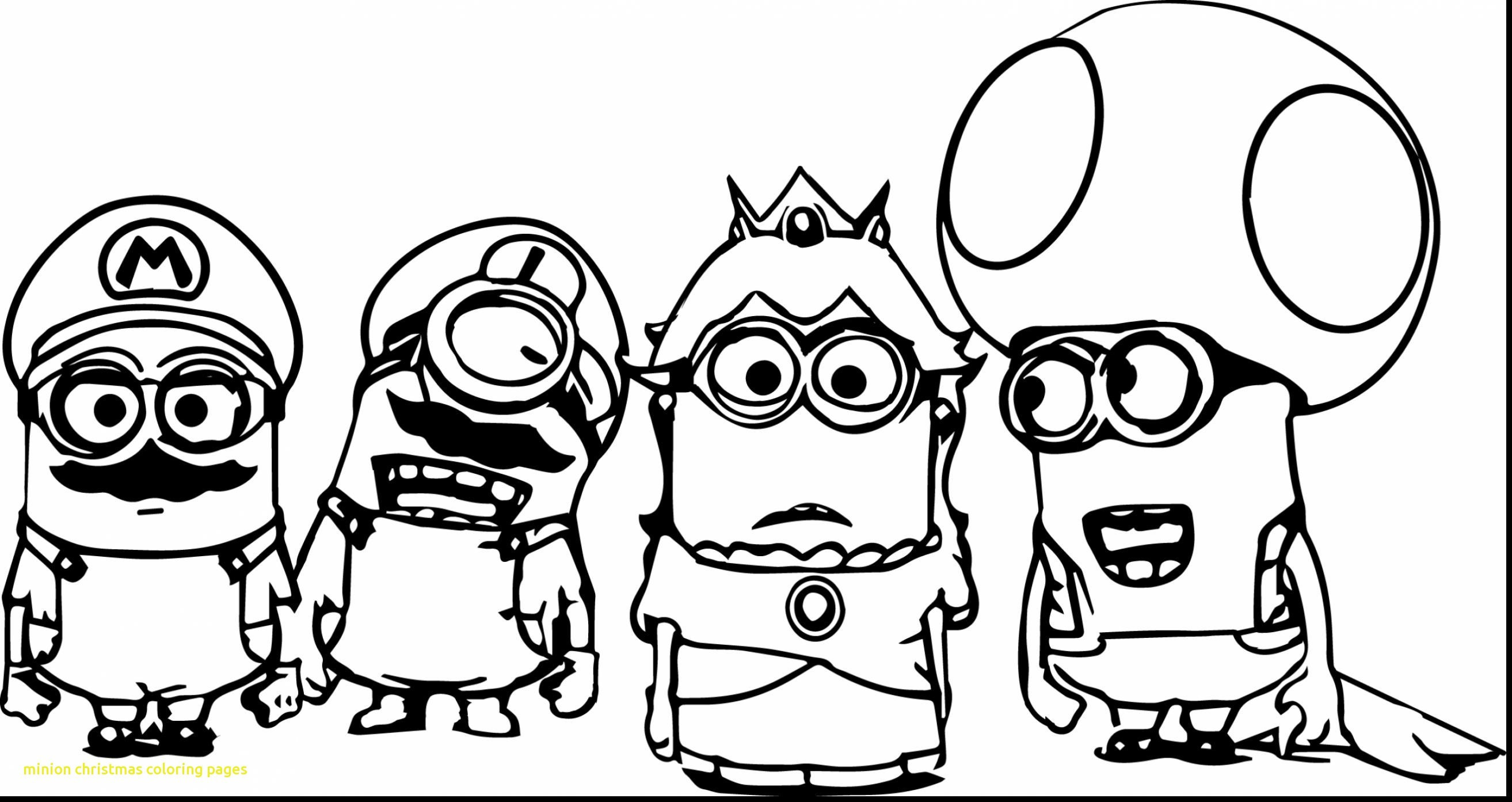 Christmas Coloring Pages Minion With Collection Of Minions Halloween Download Them And