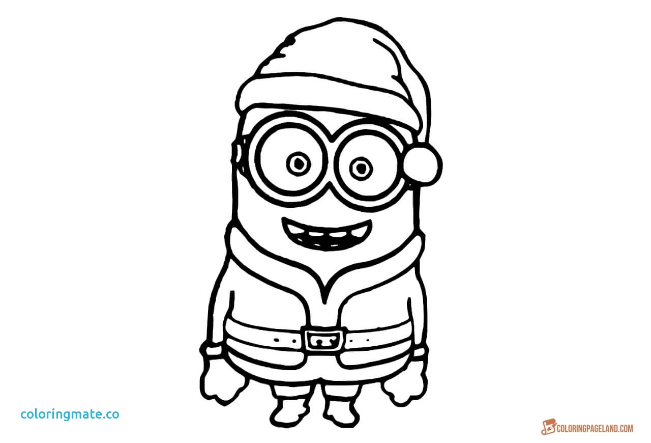 Christmas Coloring Pages Minions With 2022495