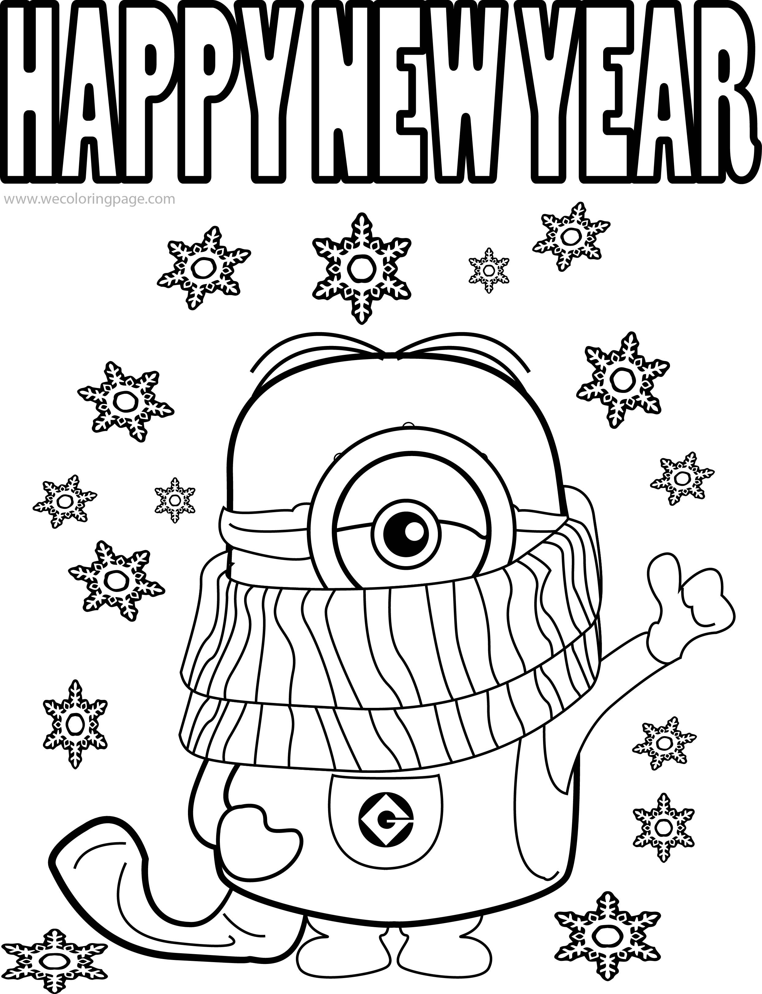 Christmas Coloring Pages Minions With Best Funny Quotes And Picture Cold Weather Happy New Year