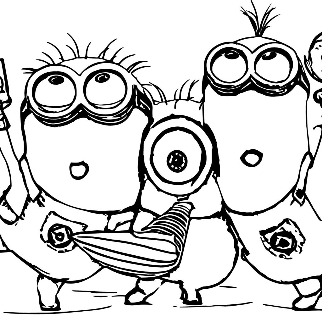 Christmas Coloring Pages Minions With Best Of Minion Nazly Me