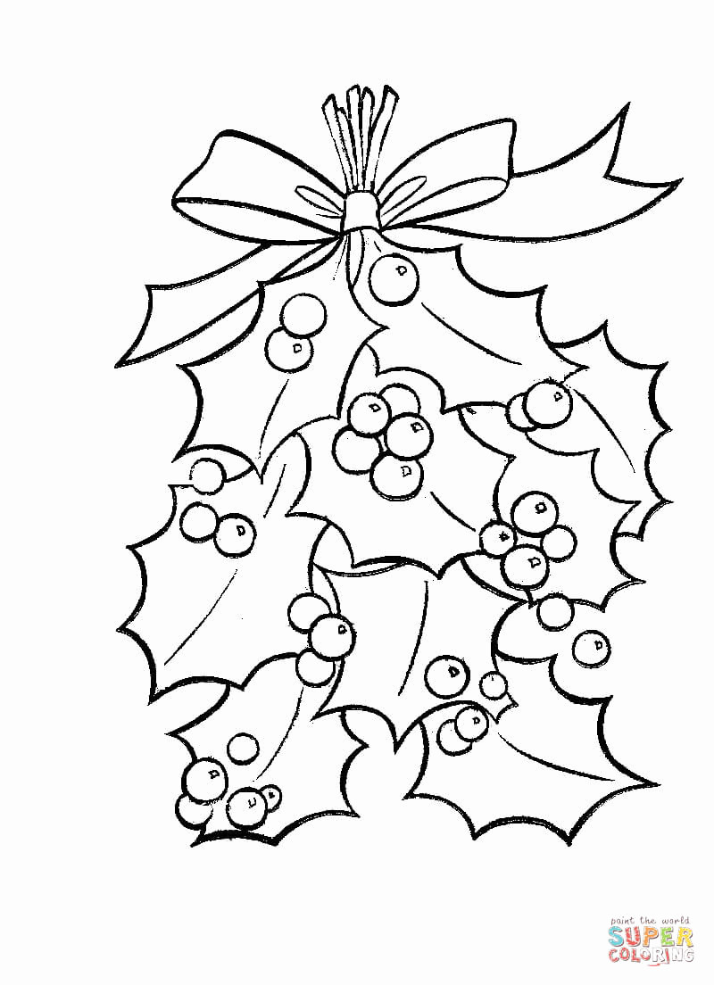 Christmas Coloring Pages Mistletoe With 0 Wordsare Me
