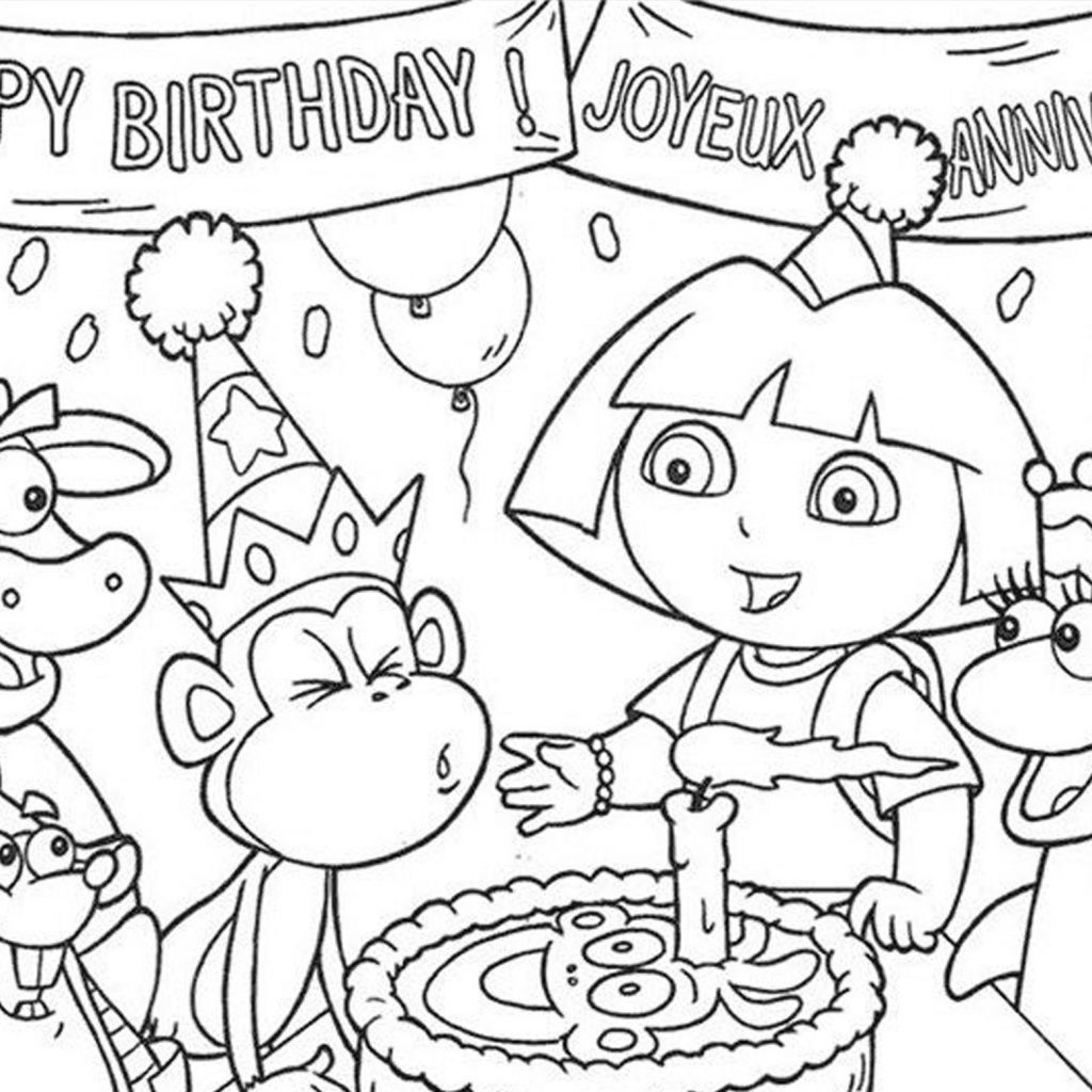 Christmas Coloring Pages Momjunction With Dora Colouring Pictures 2206001
