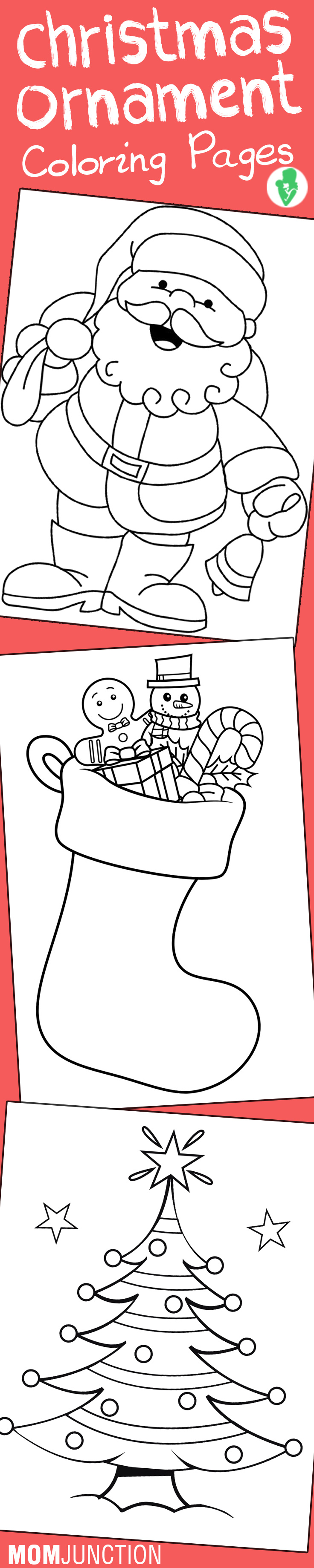 Christmas Coloring Pages Momjunction With Top 10 Free Printable Ornament Online