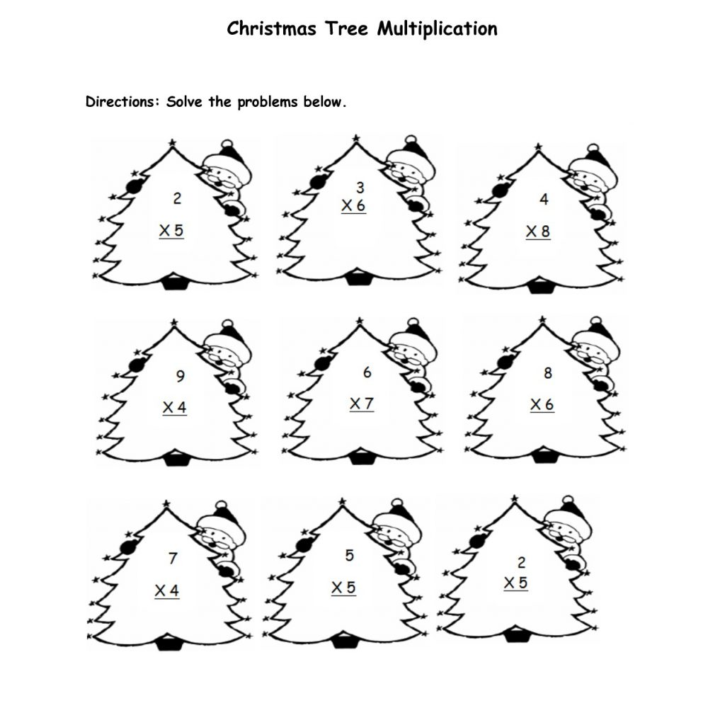 Christmas Coloring Pages Multiplication With Worksheets Free Newwallpaperjdi Co