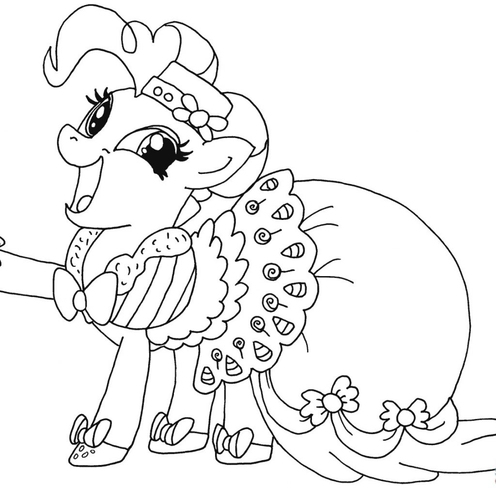 Christmas Coloring Pages My Little Pony With