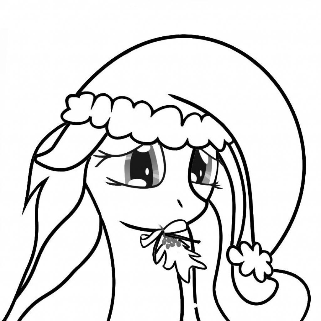 Christmas Coloring Pages My Little Pony With Free Printable For Kids