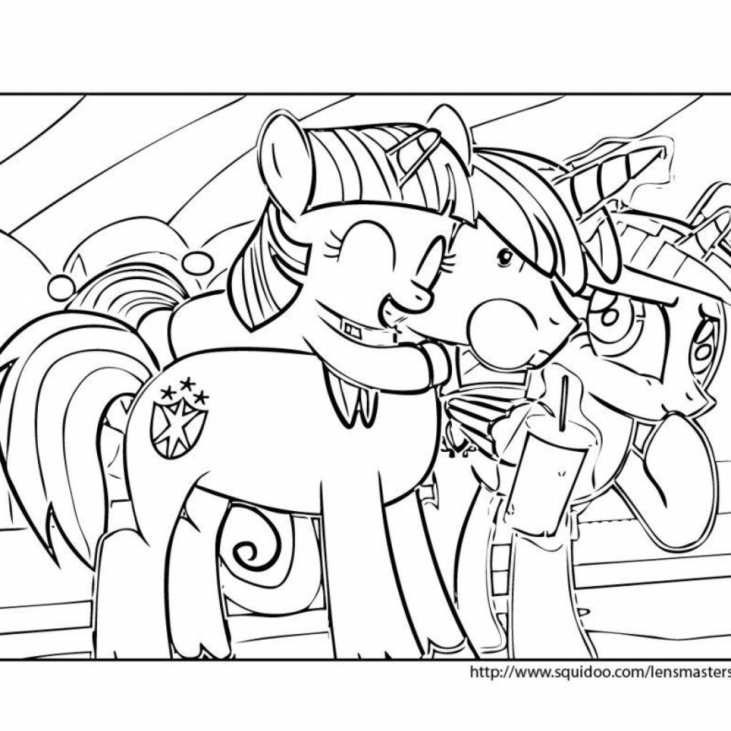 Christmas Coloring Pages My Little Pony With Friendship Is