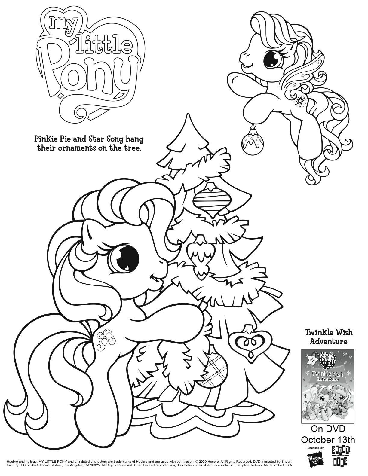 Christmas Coloring Pages My Little Pony With Page Preschool Pinterest