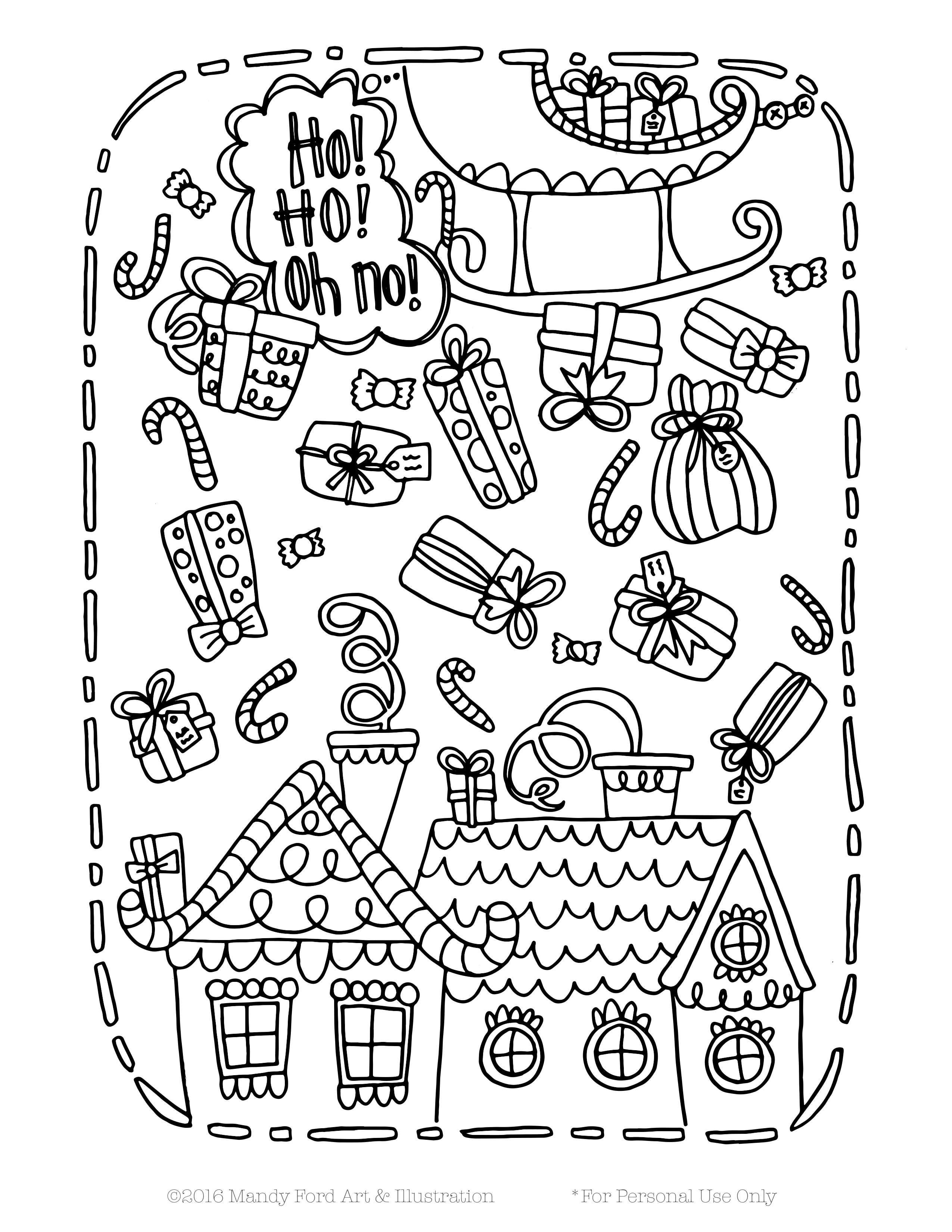 Christmas Coloring Pages Nativity With Free Printable Scene