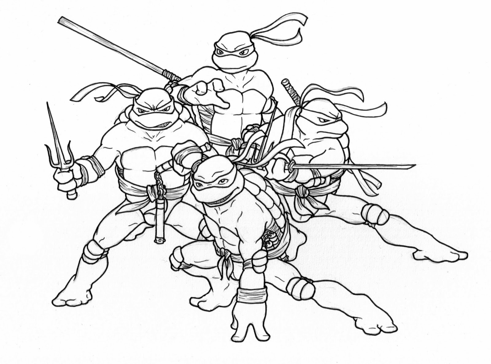 Christmas Coloring Pages Ninja Turtles With 536281