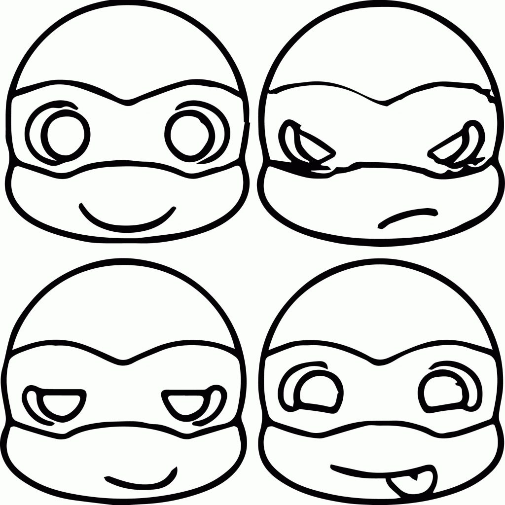 Christmas Coloring Pages Ninja Turtles With Best Face