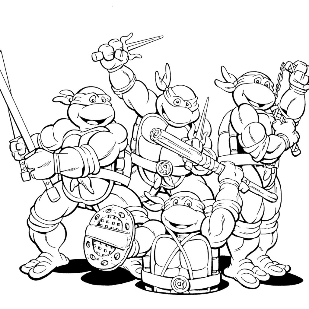 Christmas Coloring Pages Ninja Turtles With Enjoying Mutant At Animage Me
