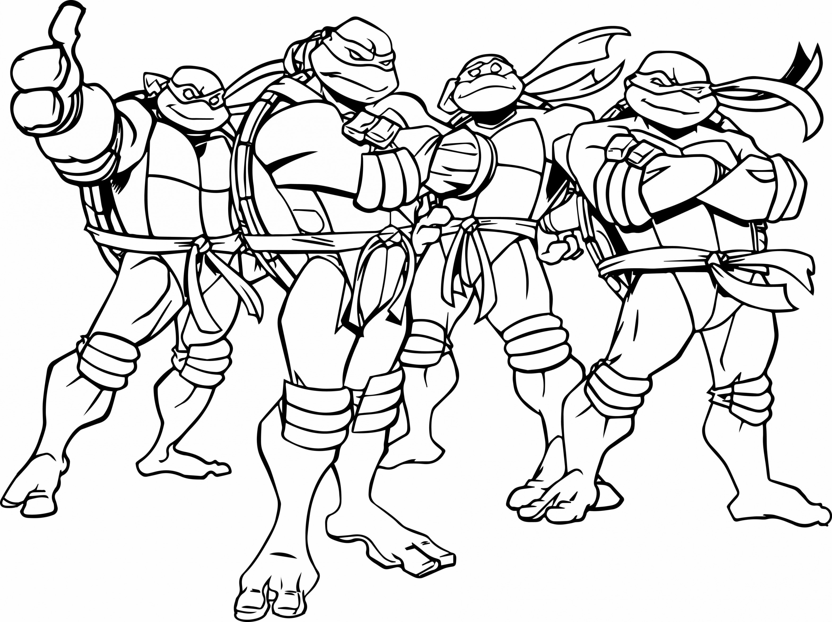 Christmas Coloring Pages Ninja Turtles With Refrence